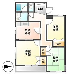 PIAA YOSHINO[3階]の間取り