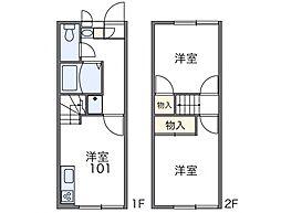 ピクシー八ヶ崎[1階]の間取り