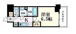 阪急神戸本線 中津駅 徒歩6分の賃貸マンション 8階1Kの間取り