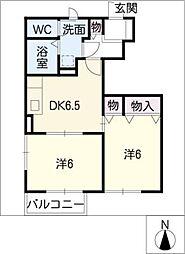 ランドマーク2001[1階]の間取り