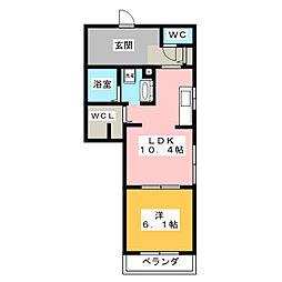 (仮)D−room大工町[3階]の間取り
