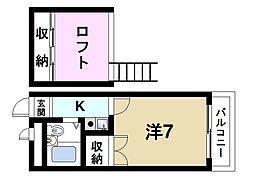 奈良県奈良市南紀寺町4丁目の賃貸アパートの間取り
