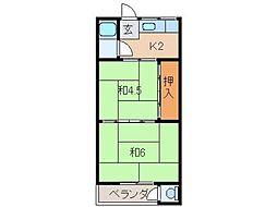 乙井マンション[1階]の間取り