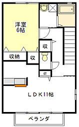 ヴェルデュールA[2階]の間取り