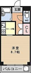 レジデンスTAKEMURA[203号室号室]の間取り
