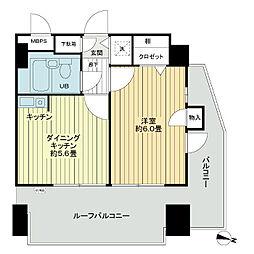 ライオンズマンション千葉県庁前[6階]の間取り