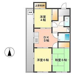 愛知県名古屋市西区則武新町2丁目の賃貸マンションの間取り
