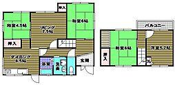 [一戸建] 大阪府河内長野市日東町 の賃貸【/】の間取り
