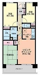 習志野台野村ハイツ[6階]の間取り