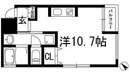兵庫県川西市火打2丁目の賃貸アパートの間取り