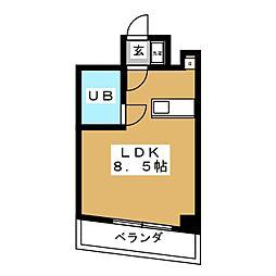 アクア堤[3階]の間取り