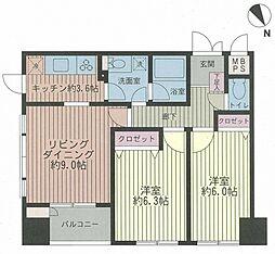 フレックスタワー横浜関内[904号室号室]の間取り
