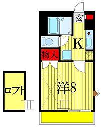 千葉県習志野市泉町2丁目の賃貸アパートの間取り