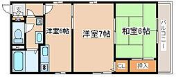 兵庫県神戸市兵庫区西出町1丁目の賃貸アパートの間取り