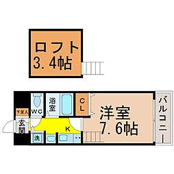 プレサンス名古屋駅前アクシス[703号室]の間取り