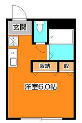 メゾンラブ・ア・ムール[1階]の間取り