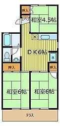 コーポ伯楽[2階]の間取り