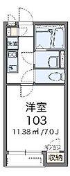 レオネクストパレス湘南菱沼II[103号室]の間取り