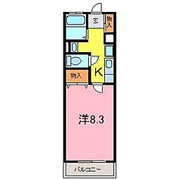 レークハヤIII[1階]の間取り