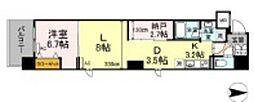 岡山電気軌道清輝橋線 大雲寺前駅 徒歩4分の賃貸マンション 2階1LDKの間取り