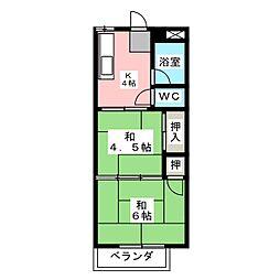 美津乃マンション[4階]の間取り
