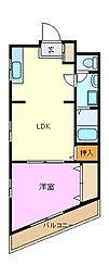杉田コープ今井[2階]の間取り