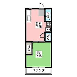 志賀橋コーポ第二[3階]の間取り
