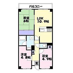 コム・ロワイヤル姫路幸町[6階]の間取り