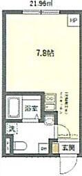 JR京浜東北・根岸線 鶯谷駅 徒歩6分の賃貸マンション 2階ワンルームの間取り