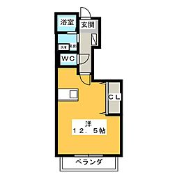 PLACIDOプラシード[1階]の間取り