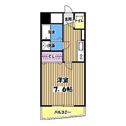 東京都昭島市昭和町5丁目の賃貸マンションの間取り
