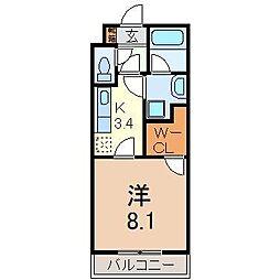 静岡県裾野市公文名の賃貸マンションの間取り