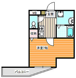 シェルブールハイム[1階]の間取り