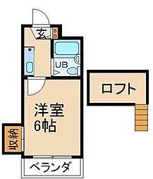 大阪府枚方市茄子作4丁目の賃貸アパートの間取り