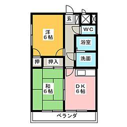 ルミエール西前田[1階]の間取り