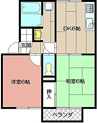 セジュールサツキ[2階]の間取り
