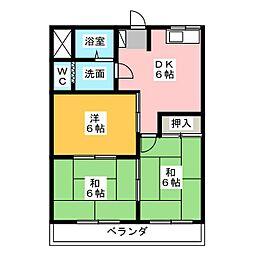 川方マンション[1階]の間取り
