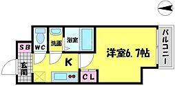 パーラム徳庵[8階]の間取り