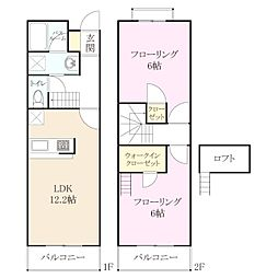 パークサイドハウゼ I[2階]の間取り