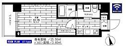 東京メトロ日比谷線 入谷駅 徒歩6分の賃貸マンション 5階1Kの間取り