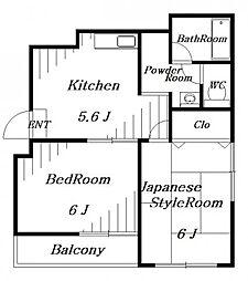 107セゾン[6階]の間取り