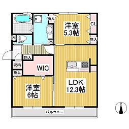 (仮)D-room北尾張部[3階]の間取り
