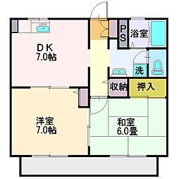 埼玉県富士見市渡戸3丁目の賃貸アパートの間取り