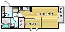 カムフォーラユー[2階]の間取り