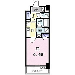高松琴平電気鉄道琴平線 三条駅 徒歩11分の賃貸マンション 8階1Kの間取り