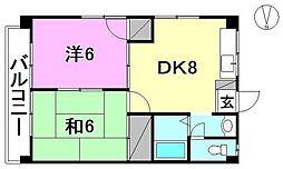 フォレスト居村[301 号室号室]の間取り