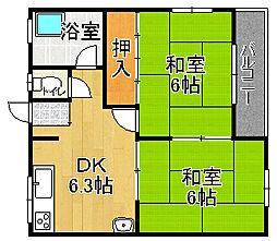兵庫県宝塚市清荒神3丁目の賃貸マンションの間取り