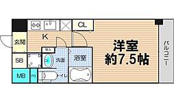 大阪府大阪市中央区徳井町2丁目の賃貸マンションの間取り