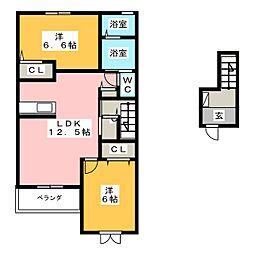 セレーノ カーサ[2階]の間取り