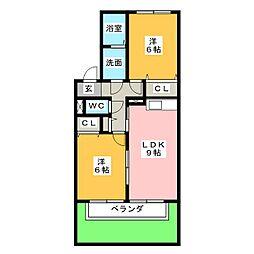 ミストラル[1階]の間取り